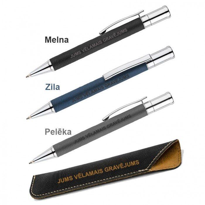 Metāla pildspalva maciņā AS19636-AS19029-02 ar gravējumu