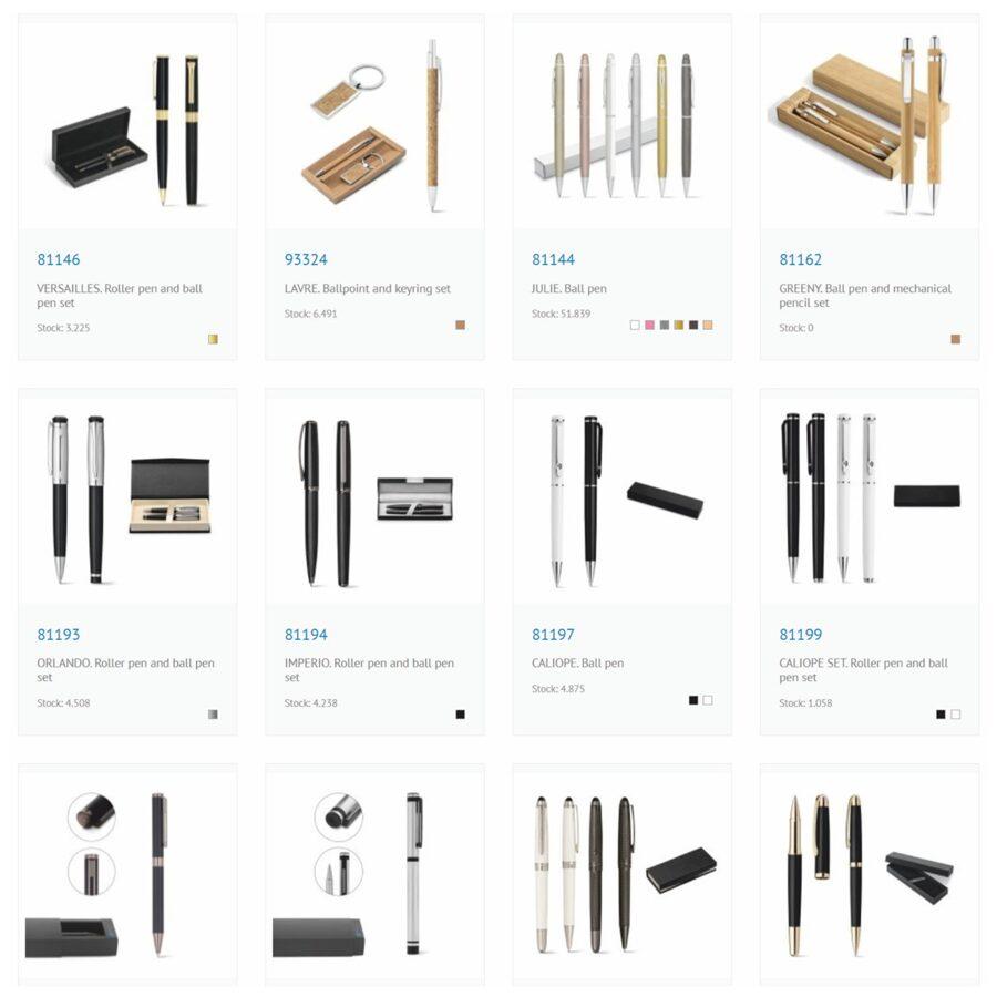 Pildspalvu komplekti Katalogs-ST-KP