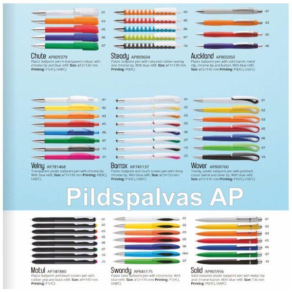 Plastmasas pildspalvas Katalogs-AP-P
